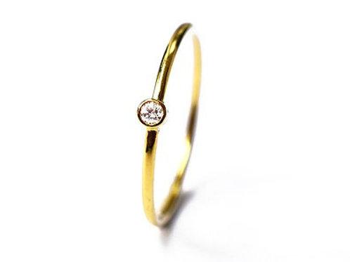 Bezel Set Baby Diamond Ring