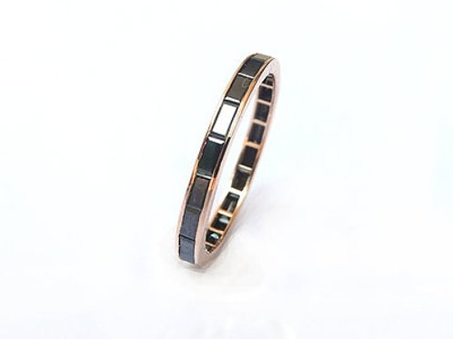 Channel Set Black Diamond Baguette Ring