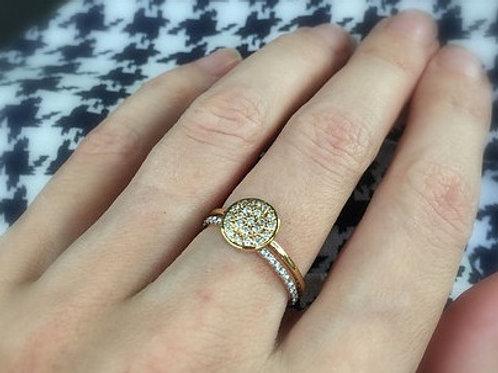 Nova Diamond Disc Ring