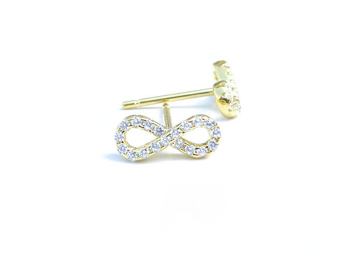 Diamond Infinity Symbol Stud Earrings
