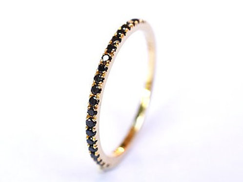 Classic Black Diamond Eternity Ring 1.35mm