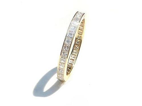 Channel Set Diamond Princess Eternity Ring 2.4mm