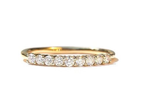 9 Diamond Shared Prong Ring