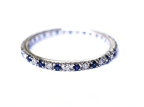 Classic Sapphire and Diamond Eternity Ring 1.35mm 1.6mm