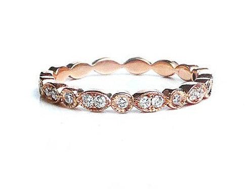 Art Deco Marquise and Round Diamond Ring