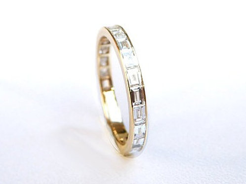 Channel Set Diamond Baguette Eternity Ring 2.4mm