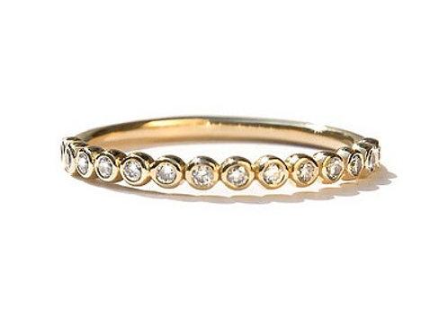 Bezel Set Round Brilliant Cut Diamond Eternity Ring