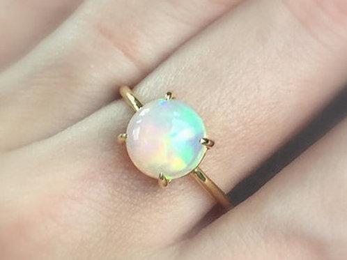 Claw Set Opal Ring