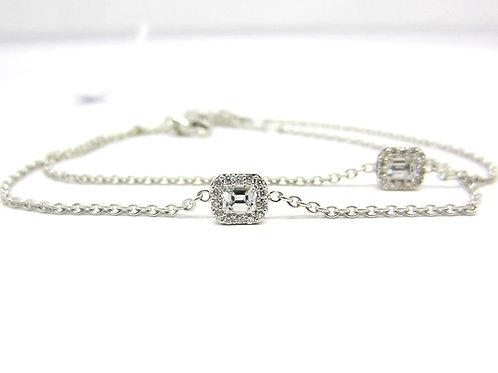 Emerald Cut Diamond Bracelet