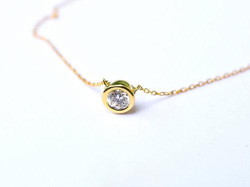 Polamai fine jewelry baby diamond solitaire necklace 03 to 07 baby diamond solitaire necklace 03 to 07 18k gold diamond pendant aloadofball Image collections