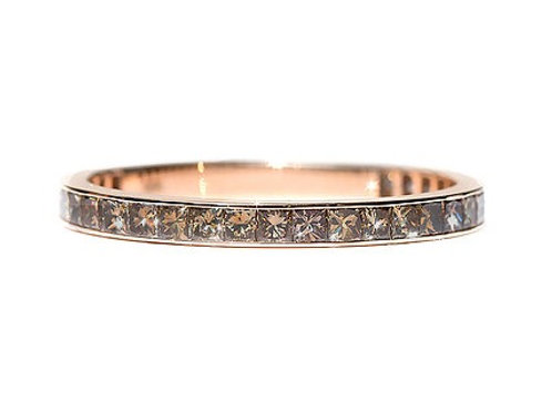 Channel Set Chocolate Brown Diamond Princess Eternity Ring