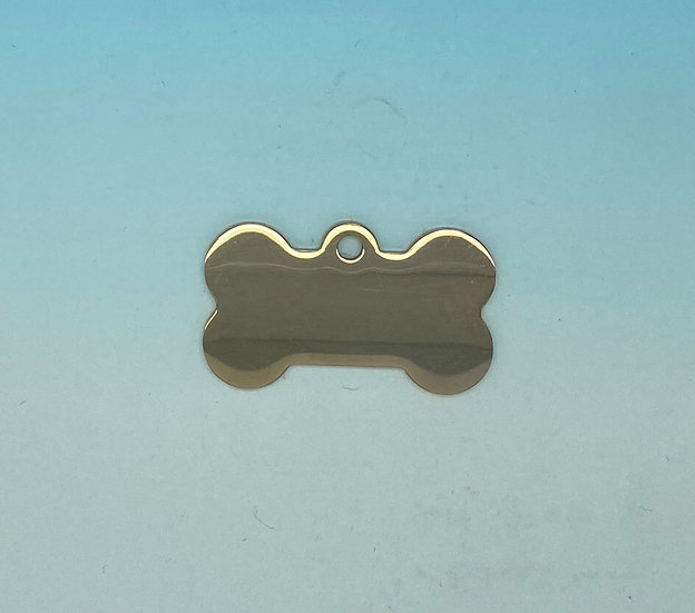 Stainless Steel Pet Tags - Dog Bone (Rose Gold)