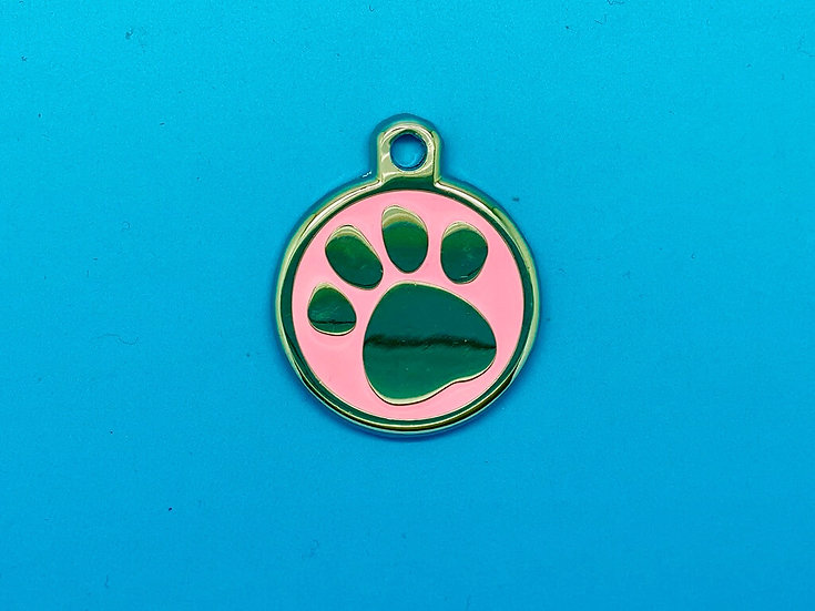 DELUXE Pet Tags - Pink Paw