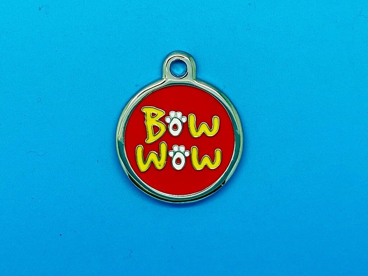 DELUXE Pet Tags - Red Bow Wow