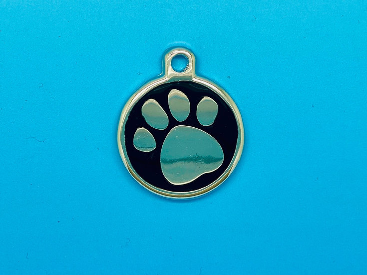 DELUXE Pet Tags - Black Paw