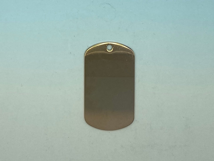 Stainless Steel Pet Tags - Army Style (Rose Gold)