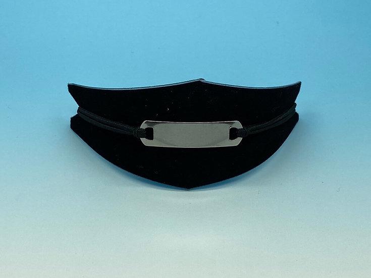 Mens Steel - Bracelet (Rubber String) - Large Size