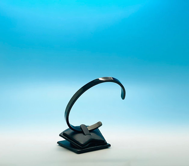 Stainless Steel - Cuff Bracelet - Black (6mm)