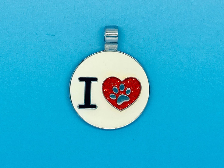 RED DOT Pet Tags - I Heart Paw