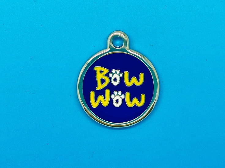 DELUXE Pet Tags - Blue Bow Wow