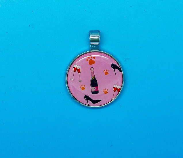 RED DOT Pet Tags - Pink Lady