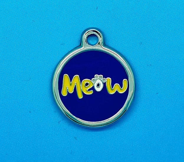 DELUXE Pet Tags - Blue Meow