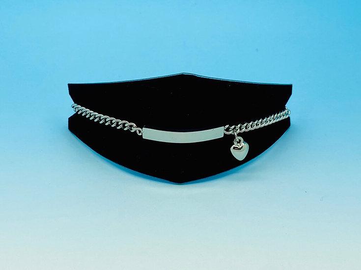 Ladies Steel - Bracelet with Heart Charm