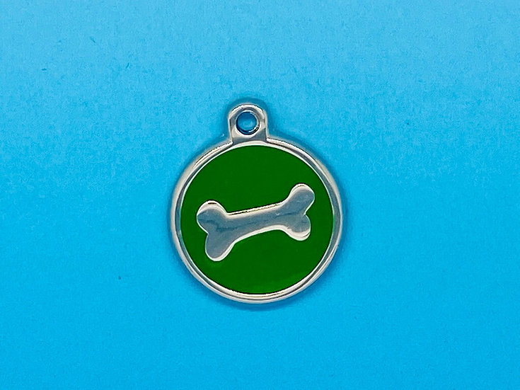 DELUXE Pet Tags - Green Bone