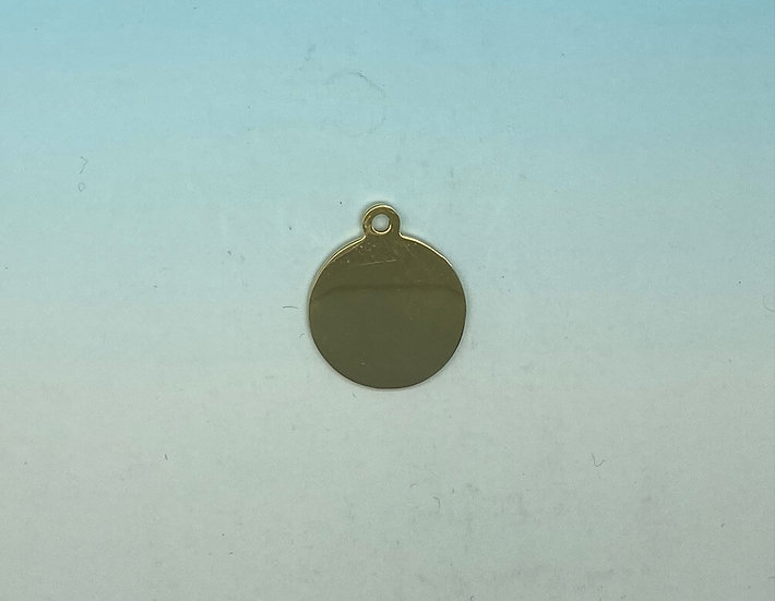 Stainless Steel Pet Tags - Round (Gold)