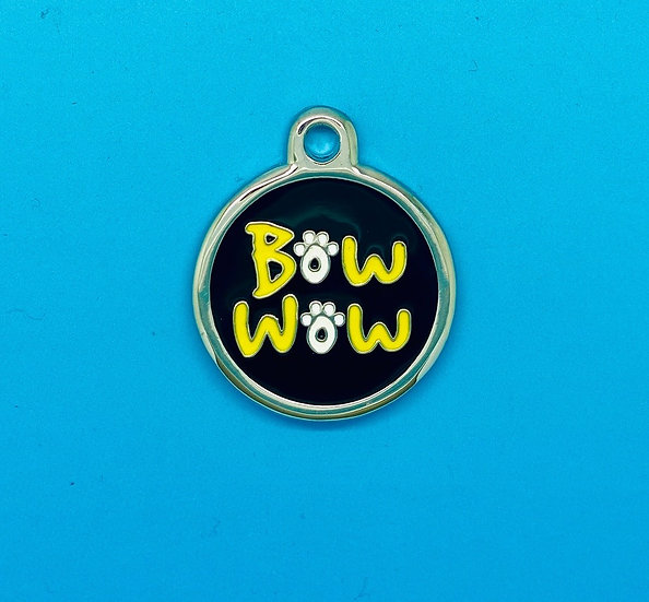 DELUXE Pet Tags - Black Bow Wow