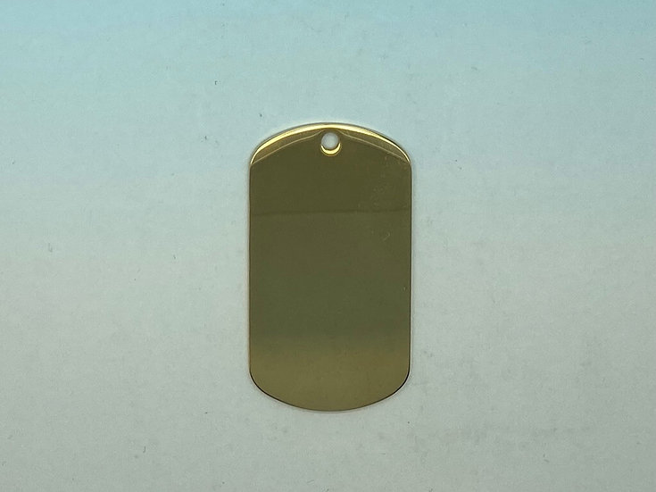 Stainless Steel Pet Tags - Army Style (Gold)
