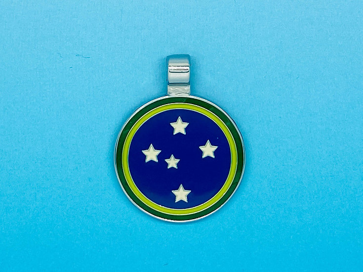 RED DOT Pet Tags - Southern Cross Yellow / Green