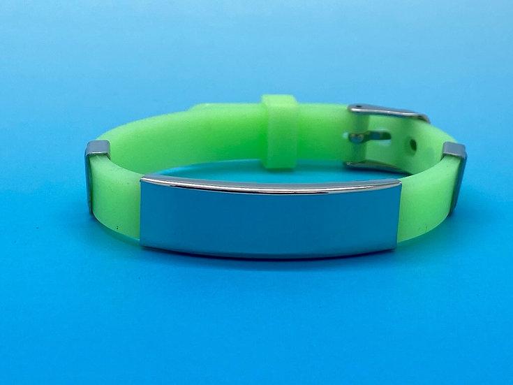 Ladies Steel - Silicone Bracelet (Green)