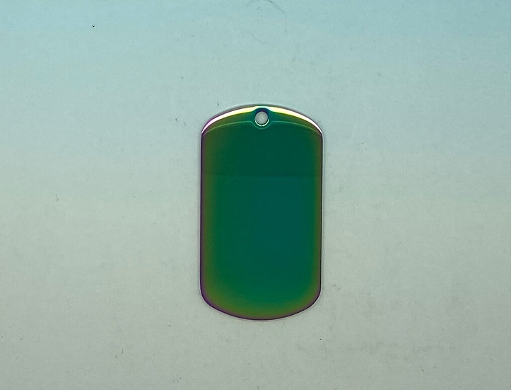 Stainless Steel Pet Tags - Army Style (Multicolor)