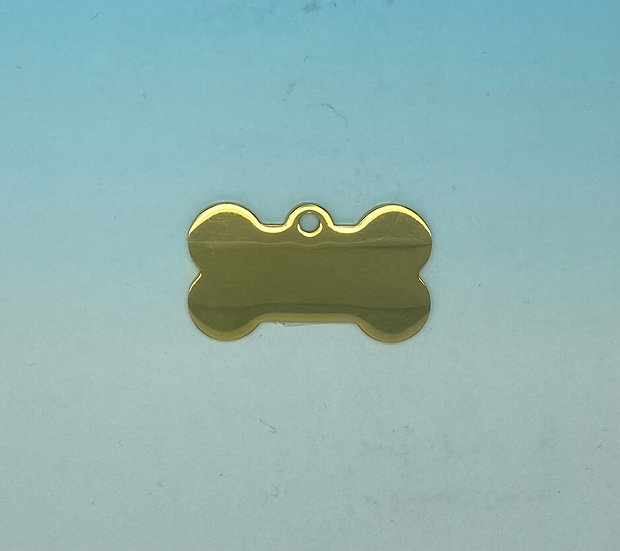 Stainless Steel Pet Tags - Dog Bone (Gold)