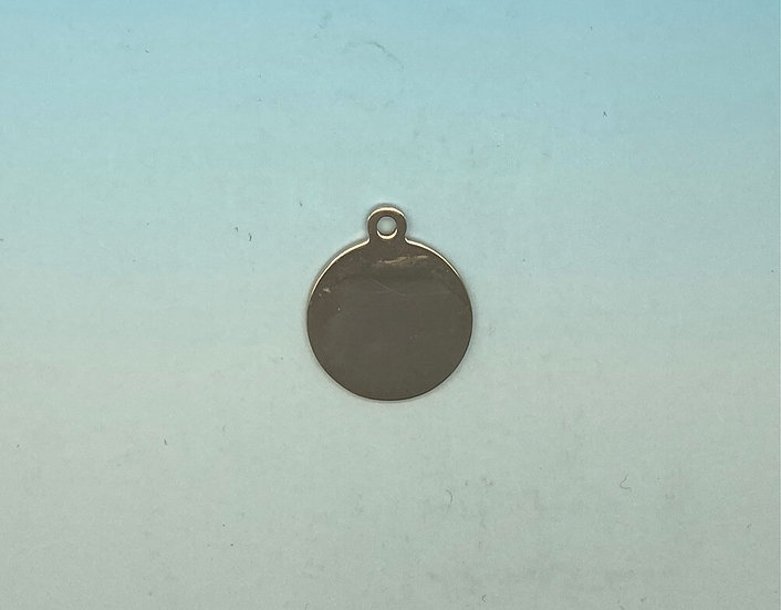 Stainless Steel Pet Tags - Round (Rose Gold)