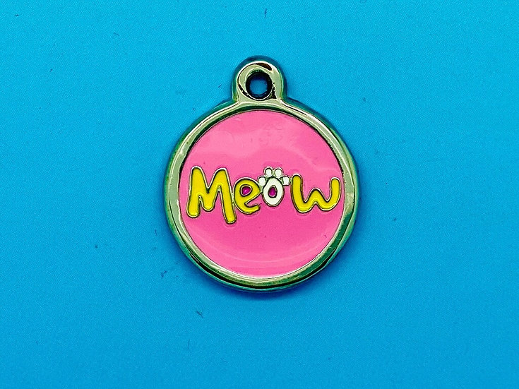 DELUXE Pet Tags - Pink Meow