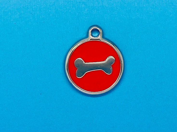 DELUXE Pet Tags - Red Bone