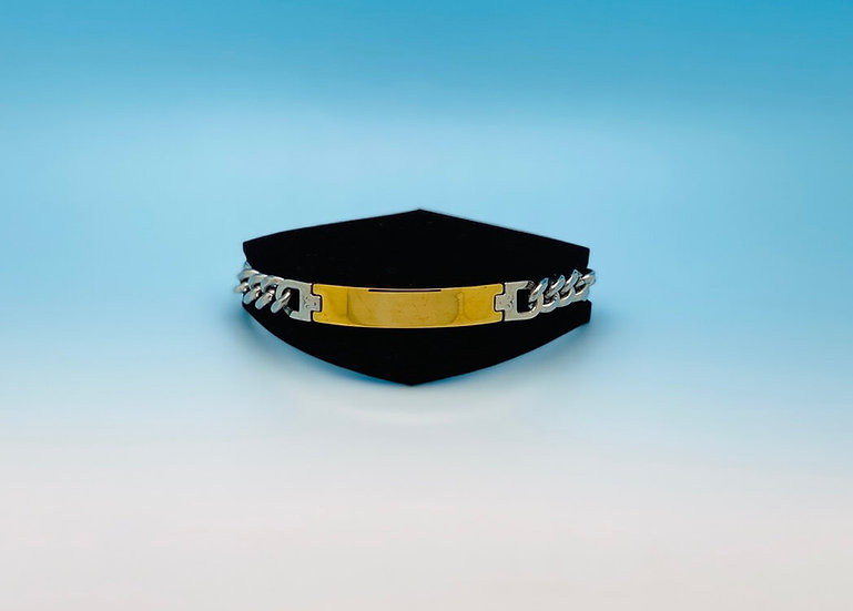 Mens Steel - Bracelet - Thick (Gold/Silver)