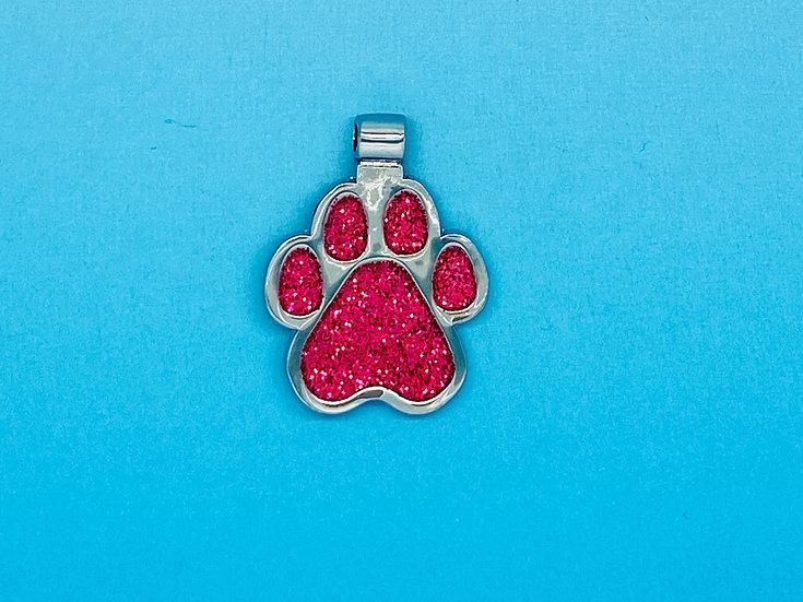 RED DOT Pet Tags - Pink Paw Print Shape