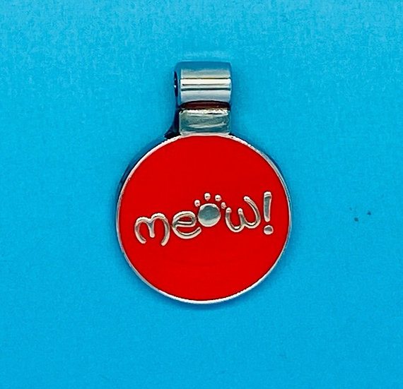 RED DOT Pet Tags - Small Red Meow