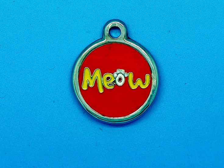 DELUXE Pet Tags - Red Meow