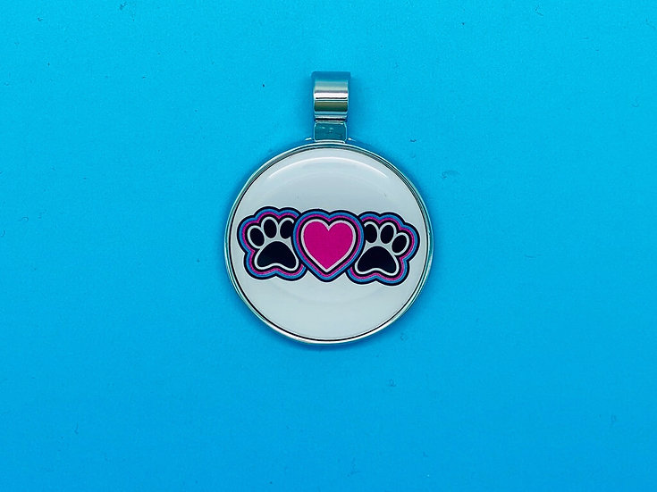 RED DOT Pet Tags - Paw Heart Paw