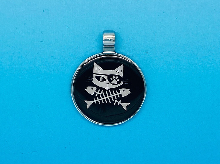 RED DOT Pet Tags - Pirate Cat