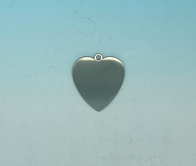 Stainless Steel Pet Tags - Love Heart