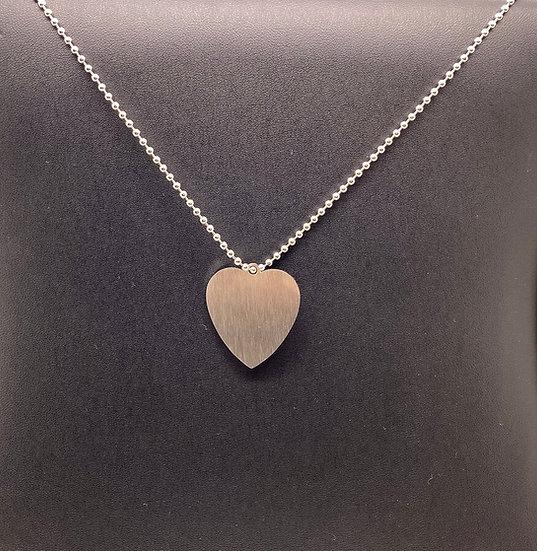 Army Dog Tag - Single (Love Heart)