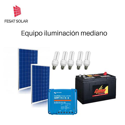 Kit Solar de iluminación mediano
