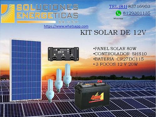 KIT SOLAR 12V