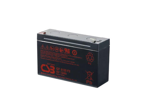 Bateria Sellada CSB 6V 12Ah GP6120