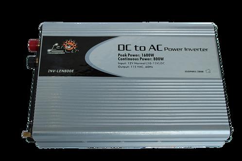 Inversor de corriente onda cuadrada 12VDC 800W 1600W Pico